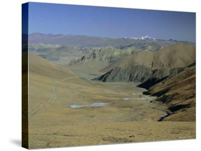 Approach to Mount Everest, Tingri, Tibet, China, Asia-Gavin Hellier-Stretched Canvas Print