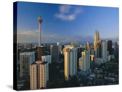City Skyline Including the Petronas Building, the World's Highest Building, Kuala Lumpur, Malaysia-Gavin Hellier-Stretched Canvas Print