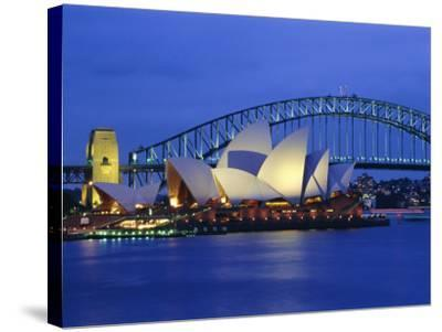 Opera House and Sydney Harbour Bridge, Sydney, New South Wales, Australia-Gavin Hellier-Stretched Canvas Print