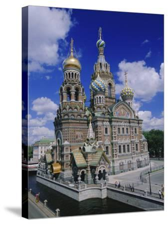 Church of the Resurrection (Church on Spilled Blood), St. Petersburg, Russia, Europe-Gavin Hellier-Stretched Canvas Print