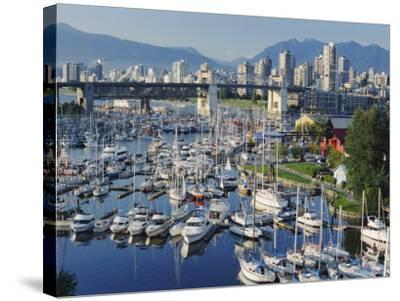 City Centre Seen Across Marina in Granville Basin, Vancouver, British Columbia, Canada-Anthony Waltham-Stretched Canvas Print