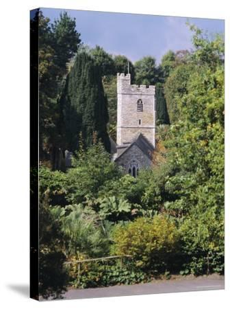 Church, St. Just in Roseland, Cornwall, England, UK-G Richardson-Stretched Canvas Print