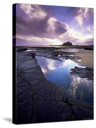 Bamburgh Castle at Dawn, Northumberland, England, United Kingdom, Europe-Lee Frost-Stretched Canvas Print
