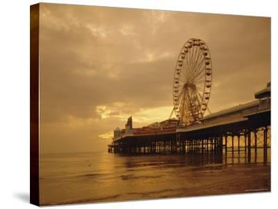 The Pier, Blackpool, Lancashire, England, UK, Europe-Charles Bowman-Stretched Canvas Print