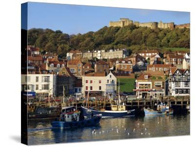 Scarborough, Harbour and Seaside Resort with Castle on the Hill, Yorkshire, England-Adina Tovy-Stretched Canvas Print