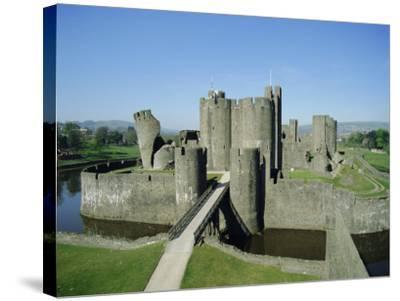 Caerphilly Castle, Glamorgan, Wales, UK, Europe-Adina Tovy-Stretched Canvas Print