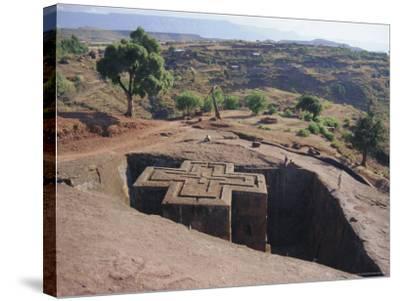 Bet Giorgis, Rock Cut Church, Lalibela, Ethiopia, Africa-Julia Bayne-Stretched Canvas Print