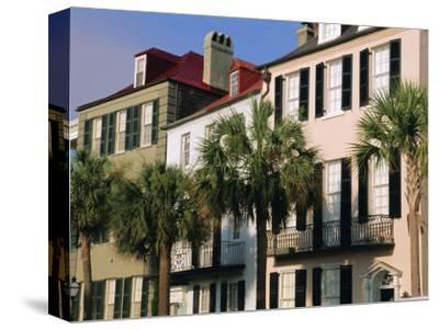 Early 19th Century Town Houses, Charleston, South Carolina, USA-Duncan Maxwell-Stretched Canvas Print