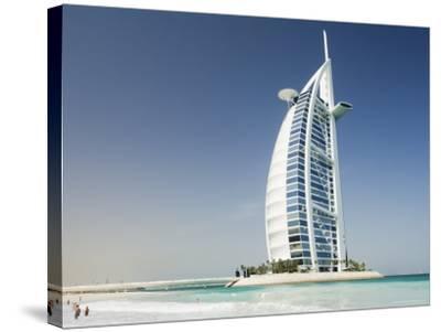 Burj Al Arab Hotel, Dubai, United Arab Emirates, Middle East-Amanda Hall-Stretched Canvas Print