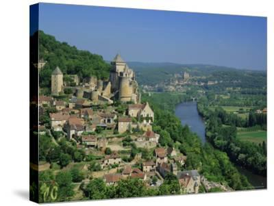 Castelnaud and the River Dordogne, Dordogne, Aquitaine, France, Europe-Roy Rainford-Stretched Canvas Print