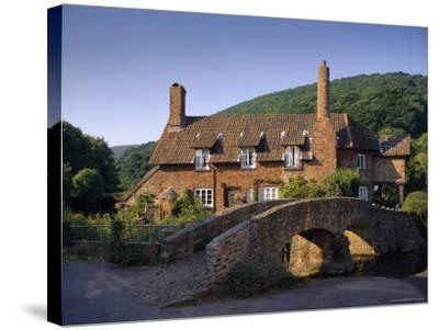 Packhorse Bridge, Allerford, Exmoor National Park, Somerset, England, UK, Europe-John Miller-Stretched Canvas Print
