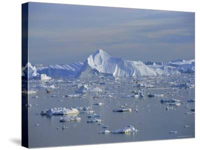 Icebergs from the Icefjord, Ilulissat, Disko Bay, Greenland, Polar Regions-Robert Harding-Stretched Canvas Print