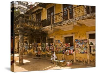 Decaying House in Panaji Formerly Known as Panjim, Goa, India-Robert Harding-Stretched Canvas Print