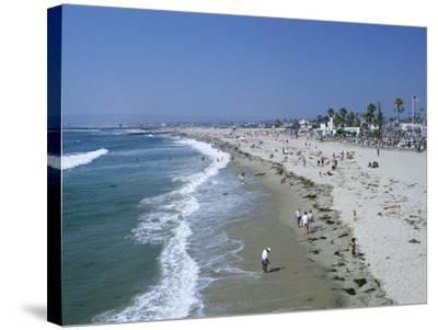 The Beach at Ocean Beach, San Diego, California, United States of America (U.S.A.), North America-Fraser Hall-Stretched Canvas Print