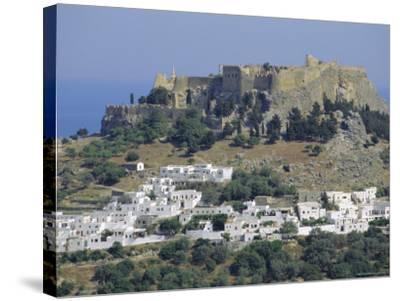 The Acropolis, Lindos, Rhodes, Dodecanese Islands, Greece Europe-Fraser Hall-Stretched Canvas Print
