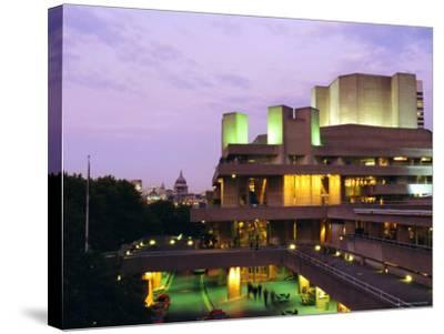 The National Theatre in the Evening, South Bank, London, England, UK-Fraser Hall-Stretched Canvas Print