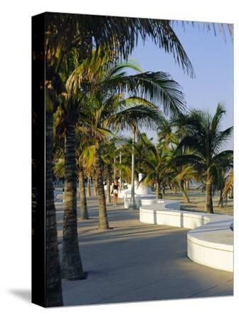 Fort Lauderdale, Wave Wall Promenade, Florida, USA-Fraser Hall-Stretched Canvas Print