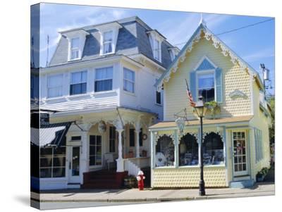 Oak Bluffs, Martha's Vineyard, Cape Cod, Massachusetts, USA-Fraser Hall-Stretched Canvas Print