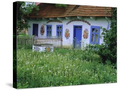 Painted House, Zalipie, Little Poland, Poland-Bruno Morandi-Stretched Canvas Print