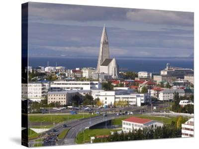 The 75M Tall Steeple and Vast Modernist Church of Hallgrimskirkja, Reykjavik, Iceland-Gavin Hellier-Stretched Canvas Print