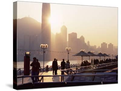 Avenue of Stars, Tsim Sha Tsui, Kowloon, Hong Kong, China-Amanda Hall-Stretched Canvas Print