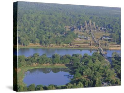Angkor Wat, Siem Reap, Cambodia, Indochina, Asia-Bruno Morandi-Stretched Canvas Print