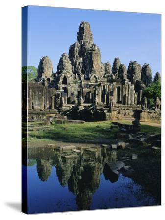 The Bayon Temple, Angkor, Siem Reap, Cambodia, Indochina, Asia-Bruno Morandi-Stretched Canvas Print