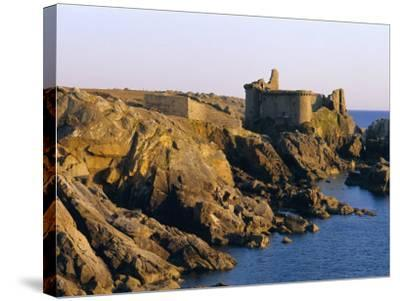 The Old Castle, 19th Century, on the South Coast of Ile d'Yeu, Yeu Island, Vendee, France-J P De Manne-Stretched Canvas Print