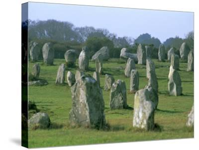 Alignments of Megalithic Standing Stones, Carnac, Morbihan, Brittany, France, Europe-J P De Manne-Stretched Canvas Print