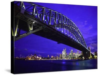 Skyline and the Harbor Bridge, Sydney, Australia-Bill Bachmann-Stretched Canvas Print
