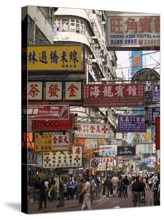 Fa Yuen Street, Mong Kok District, Kowloon, Hong Kong, China, Asia-Sergio Pitamitz-Stretched Canvas Print