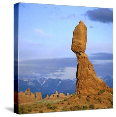 Balanced Rock, Arches National Park, Utah, USA-Tony Gervis-Stretched Canvas Print