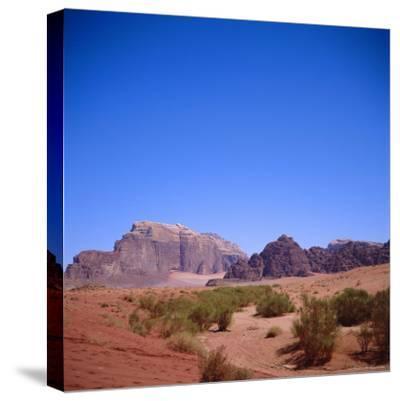 Jabal Rum, Desert Landscape in Southern Jordan, Wadi Rum, Jordan, Middle East-Christopher Rennie-Stretched Canvas Print