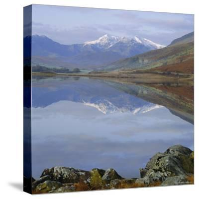 The Snowdon Range from Capel Curig Across Llynnau Mymbr, Snowdonia National Park, North Wales, UK-Roy Rainford-Stretched Canvas Print