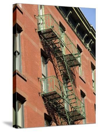 Fire Escapes on the Outside of Buildings in Spring Street, Soho, Manhattan, New York, USA-Robert Harding-Stretched Canvas Print