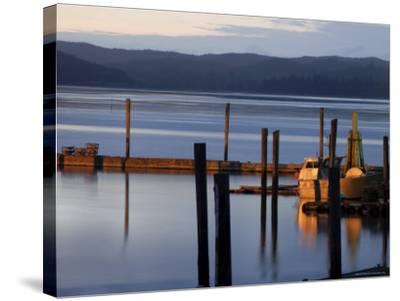 Crab Pots on Deck, Grayland Dock, Grays Harbor County, Washington State, United States of America-Aaron McCoy-Stretched Canvas Print