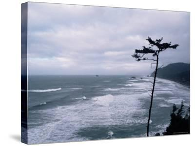 Waves Crashing into Rocks on the Pacific Coast, Oregon, United States of America, North America-Aaron McCoy-Stretched Canvas Print