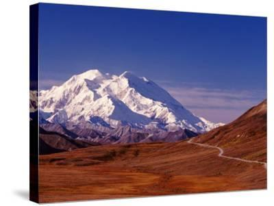 Mt. Denali from Stony Hill in Fall, Mt. McKinley, Alaska, USA-Charles Sleicher-Stretched Canvas Print