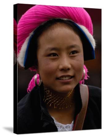 Tibetan Minority at Horse Racing Festival, Zhongdian, Deqin Tibetan Autonomous Prefecture, China-Pete Oxford-Stretched Canvas Print