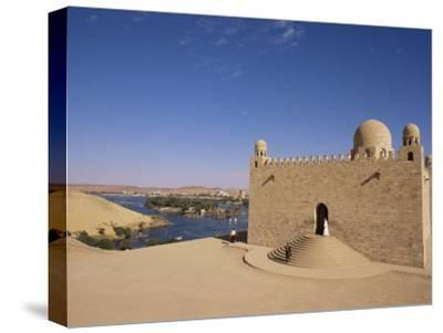 Aga Khan Mausoleum on River Nile, Aswan, Egypt-Staffan Widstrand-Stretched Canvas Print