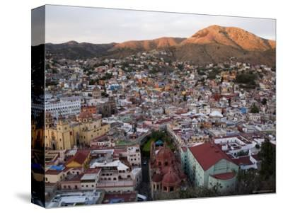 Colorful Colonial Architecture of Guanajuato Mexico at Sunset-David Evans-Stretched Canvas Print