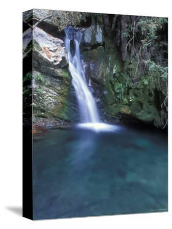 Pico Blanca Falls in Los Padres National Forest, California-Rich Reid-Stretched Canvas Print