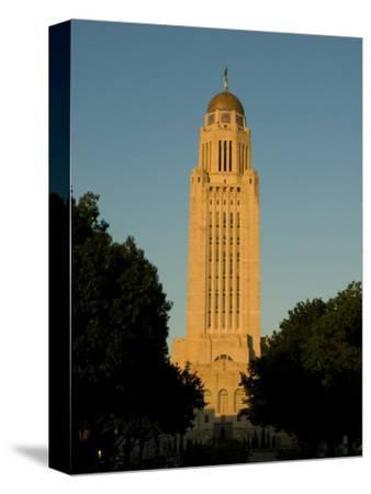 The State Capitol Building in Lincoln, Nebraska-Joel Sartore-Stretched Canvas Print