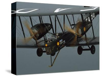 The Vimy in the Air near Sydney, Australia-James L^ Stanfield-Stretched Canvas Print