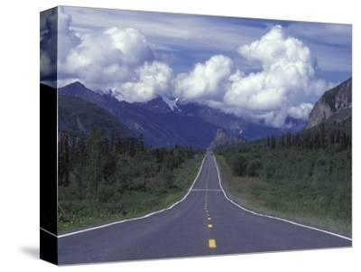 View Towards Lion's from the Road, Glenn Highway, Alaska-Rich Reid-Stretched Canvas Print