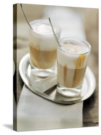Latte Macchiato on a Tray--Stretched Canvas Print