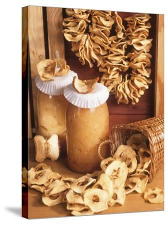Still Life with Dried Apple Rings and Apple Compote-Beata Polatynska-Stretched Canvas Print
