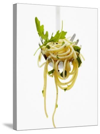 Spaghetti with Rocket on Spaghetti Server-Marc O^ Finley-Stretched Canvas Print