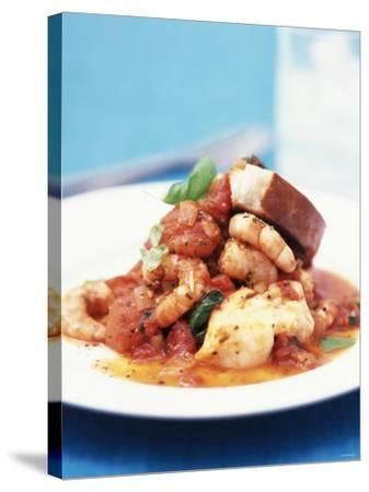 Mediterranean Fish and Seafood Stew--Stretched Canvas Print
