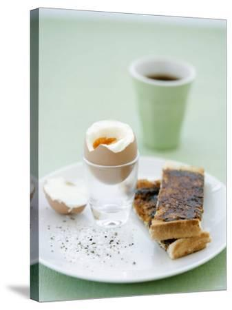 Hard-Boiled Breakfast Egg and Toast with Vegemite-Tanya Zouev-Stretched Canvas Print